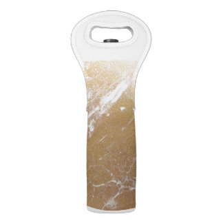 gold marble foil wine bag