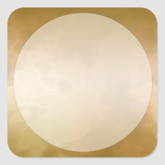 Gold Marble Label Sticker Small Square
