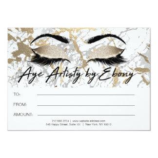 Gold Marble Makeup Beauty Eyes Certificate Ebony Card