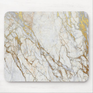 Gold Marble Mouse Pad