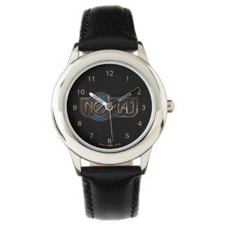 Gold & Marble No-Maj Badge Wrist Watch