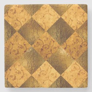 Gold Marble Stone Coaster