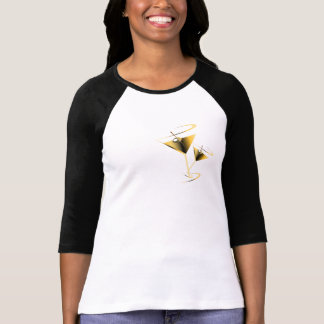 Gold Martini Bartender T-shirt Women's Fashion