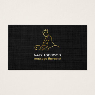 Gold Massage Therapy Masseuse Spa Business Card