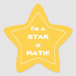 Gold Math Star Student Star Sticker