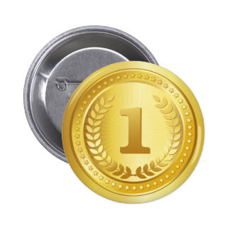 Gold medal 1st place winner button