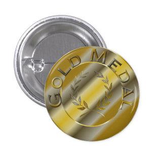 Gold Medal 3 Cm Round Badge