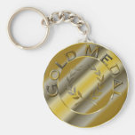 Gold Medal Basic Round Button Key Ring