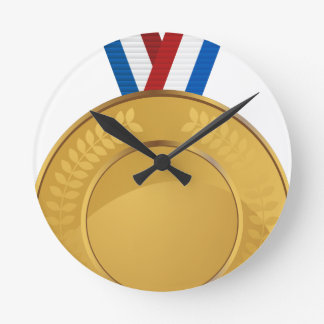 Gold Medal Round Wall Clock