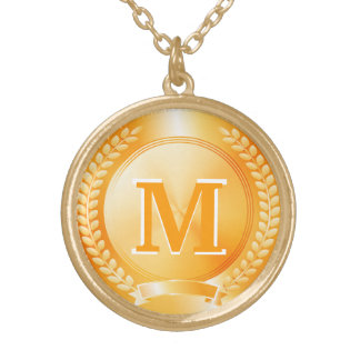 Gold Medal of Honor Personalized Necklace