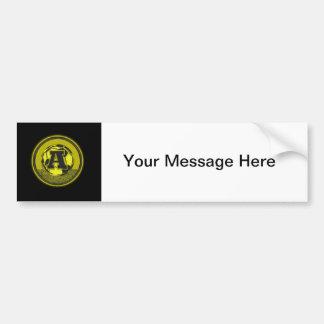Gold Medal Soccer Monogram Letter A Car Bumper Sticker