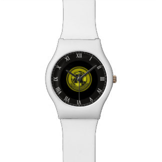 Gold Medal Soccer Monogram Letter A Watches