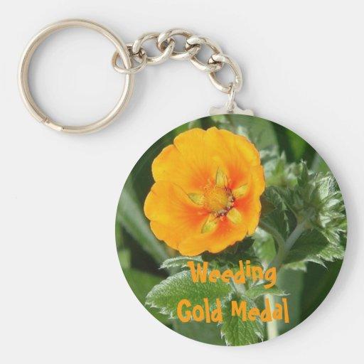 Gold Medal Weeding Key Chains