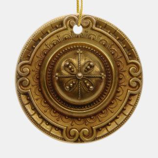 Gold Medallion 1 Ceramic Ornament