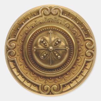 Gold Medallion Classic Round Sticker