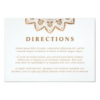 Gold Medallion Mandala Wedding Directions Card