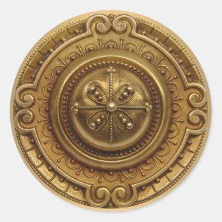 Gold Medallion Round Sticker