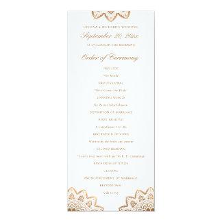 Gold Medallion Wedding Program