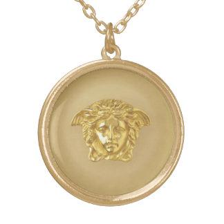 Gold Medusa Medallion Gold Plated Necklace
