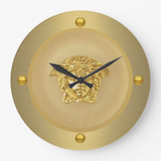 Gold Medusa Medallion Large Clock