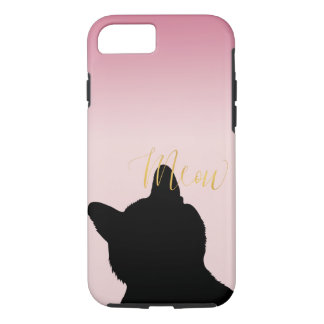 Gold Meow Kitty iPhone 8/7 Case