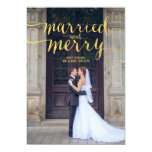 GOLD MERRY & MARRIED | HOLIDAY PHOTO CARD PERSONALISED INVITES