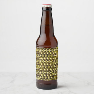 Gold Metal Chain Mail Metallic Mediaeval Armour Beer Bottle Label