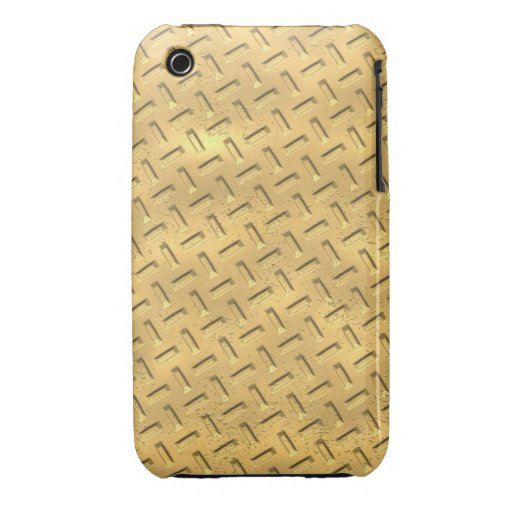 Gold Metal Design Blackberry Curve case