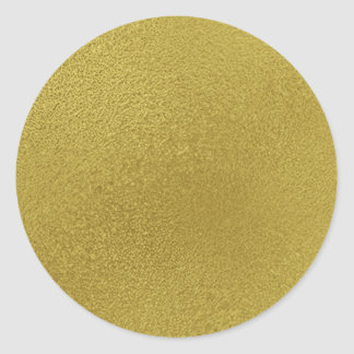 Gold Metal Pattern Classic Round Sticker