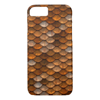 Gold Metal Scale Background iPhone 7 case
