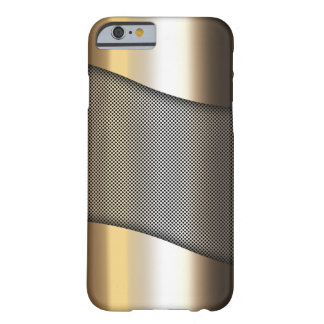 gold metal sheet with grid pattern barely there iPhone 6 case