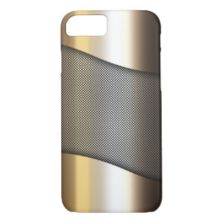 gold metal sheet with grid pattern iPhone 7 case