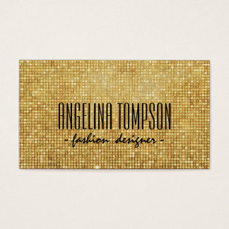 Gold Metal Shimmering Fashion Designer Card