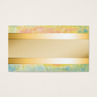 Gold metal stripe on pastel textured background business card