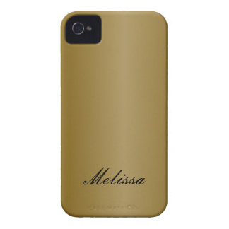 Gold Metal with Name Blackberry Phone Case