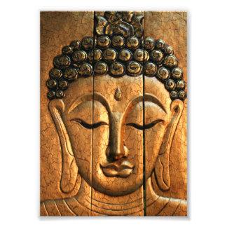 Gold Metallic Buddha Photo Print