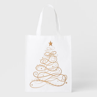 Gold Metallic Filigree Christmas Tree