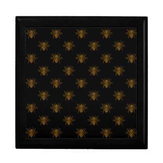 Gold Metallic Foil Bees on Black Gift Box