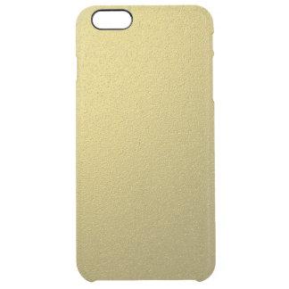 Gold Metallic Foil Effect Clear iPhone 6 Plus Case