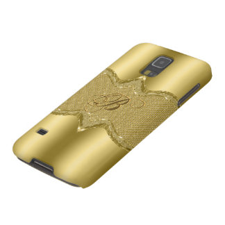 Gold Metallic Look With Diamonds Pattern 3 Galaxy S5 Cover