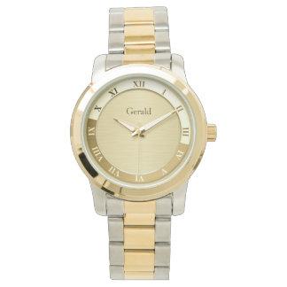 Gold Metallic Name Template Watch
