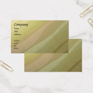 Gold Metallic Waves Business Cards