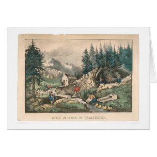 Gold Mining in California (0636A) Greeting Card