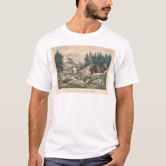 Gold Mining in California (0636A) T-Shirt