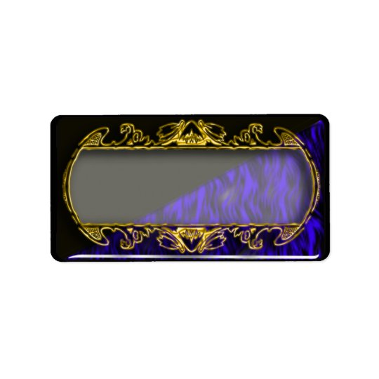 gold mirror label