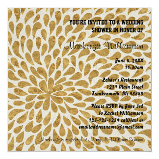 Gold Modern Chyrsanthemum - Wedding Shower Invite