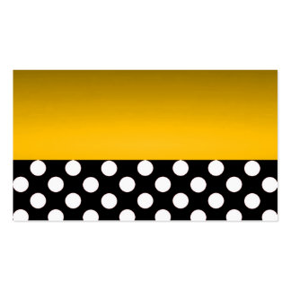 Gold Modern Elegant Polka Dots Save the Date Chic Business Card