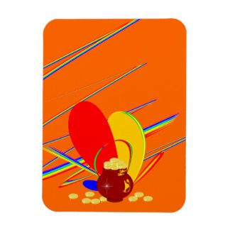Gold money ang magic rainbow Custom Premium Magnet