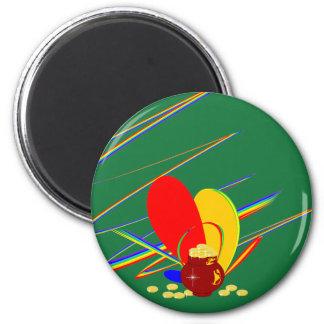 Gold money ang magic rainbow Magnet