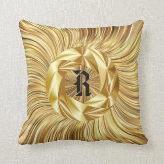 Gold Monogram Cushion Cover